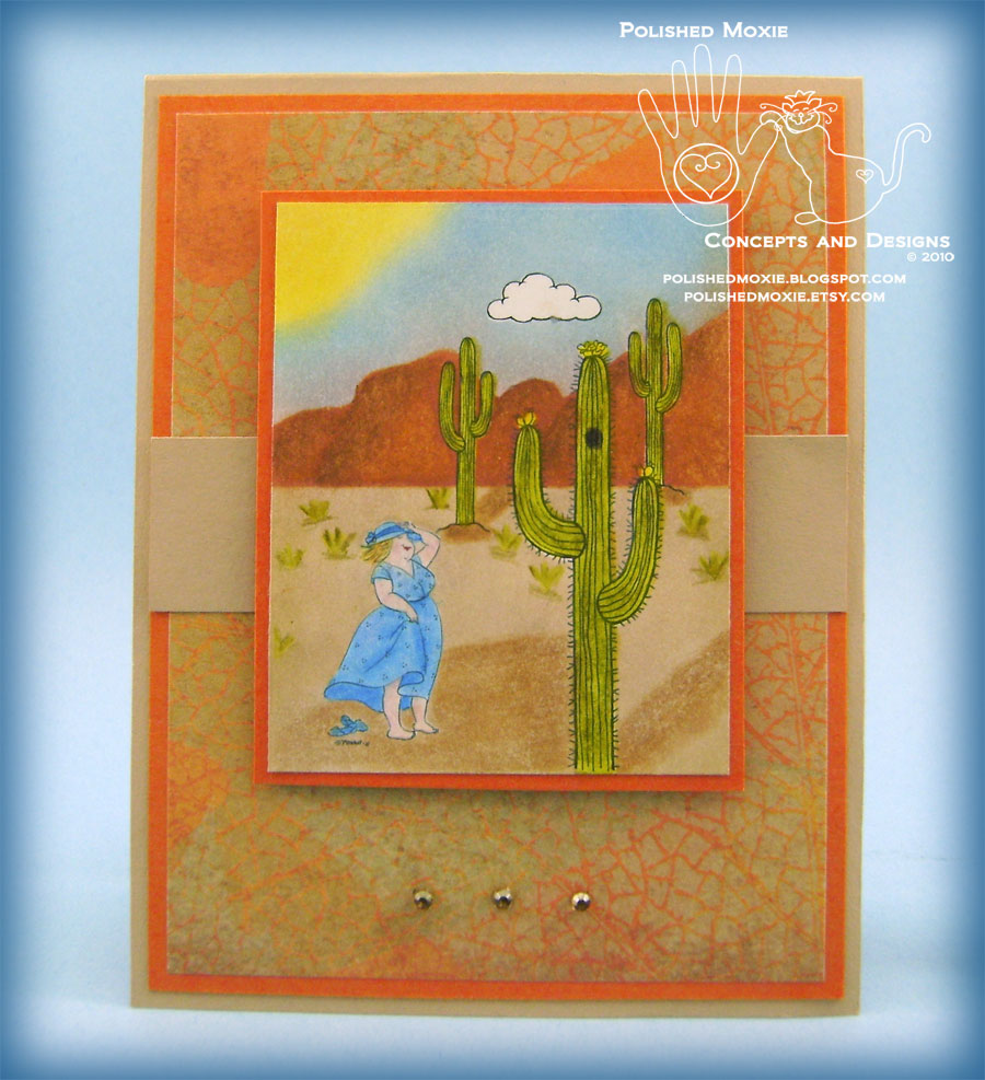 Picture of handmade Southwest Desert card
