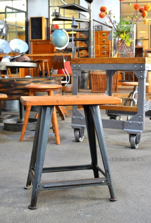 Vintage Werkstatthocker