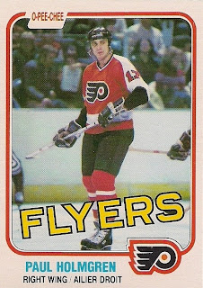 paul holmgren o-pee-chee hockey card philadelphia flyers