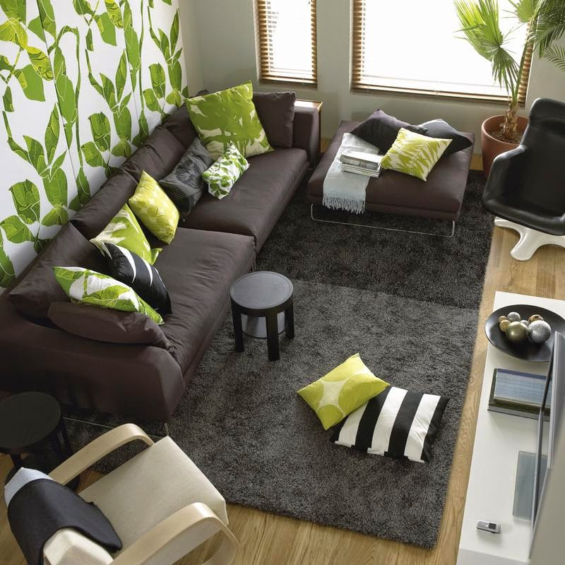 10 fotos de salas en verde y gris salas con estilo for Decoracion hogar verde