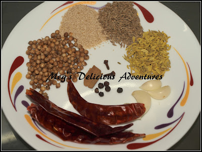Ingredients for spice powder for misal
