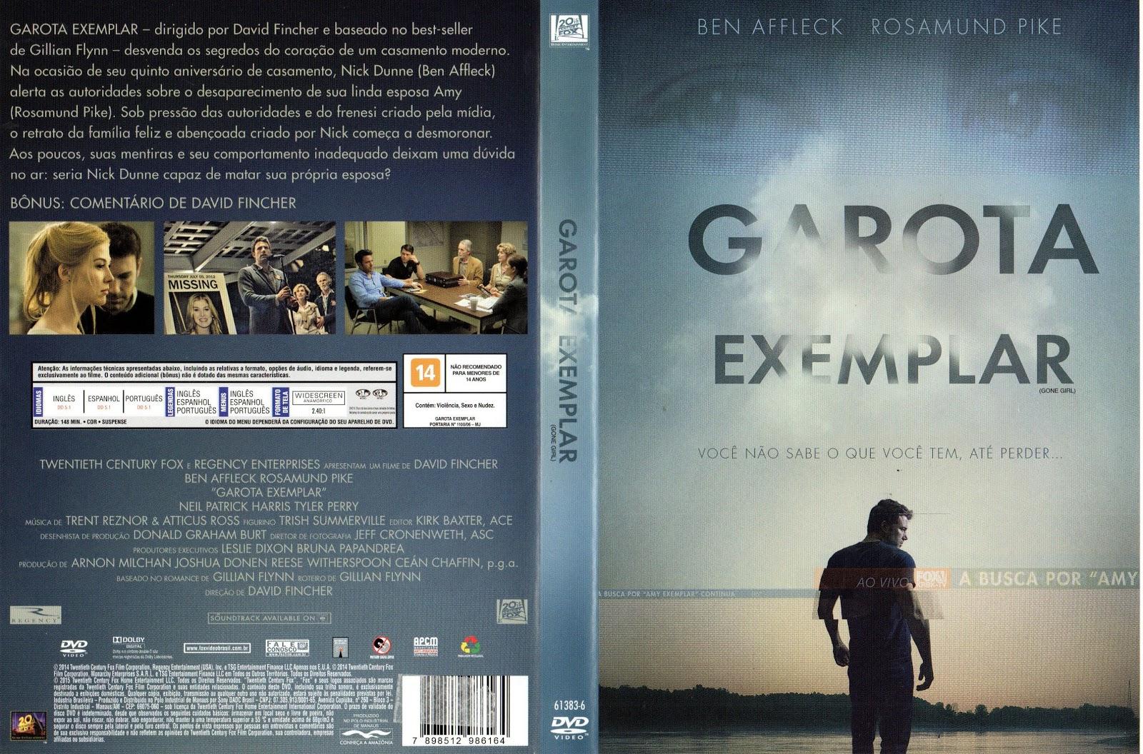 Capa DVD Garota Exemplar