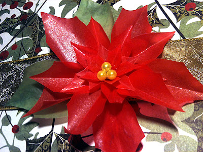paper poinsettia christmas flower