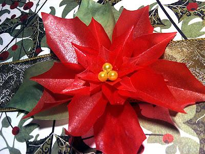 paper poinsettia christmas flower