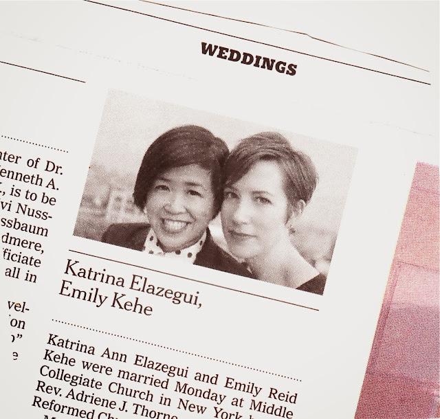 lesbian wedding announcement