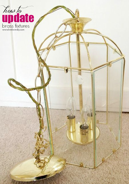 The secret to updating old brass fixtures! Such an easy update! Check this out!