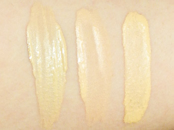 shiseido sun protection makeup swatches