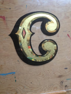 big top sign arts studio in Vancouver canada gold leaf lettering by dobell signs