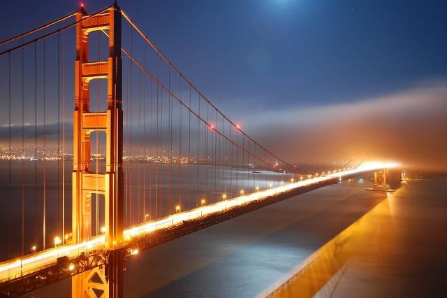 golden gate bridge at night wallpaper. golden gate bridge black and