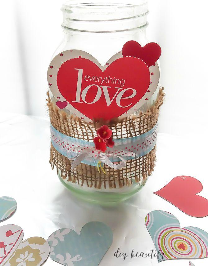 burlap wrapped jar