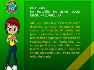 INCLUSÃO DA LIBRAS