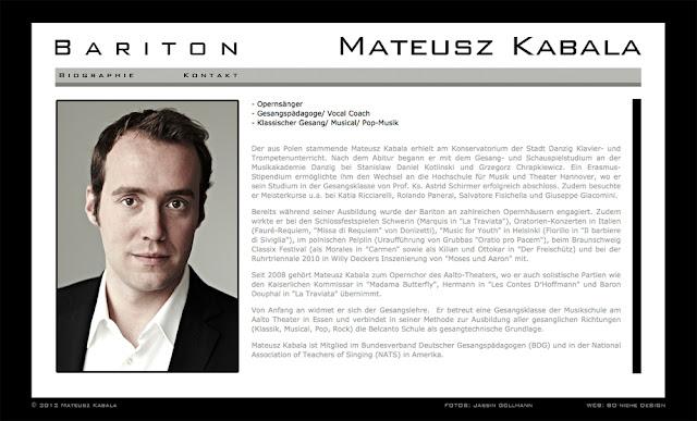 Mateusz Kabala - Bariton Website - Biography