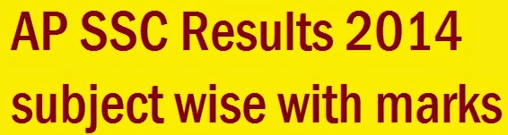 ap ssc results 2014 with subject wise marks