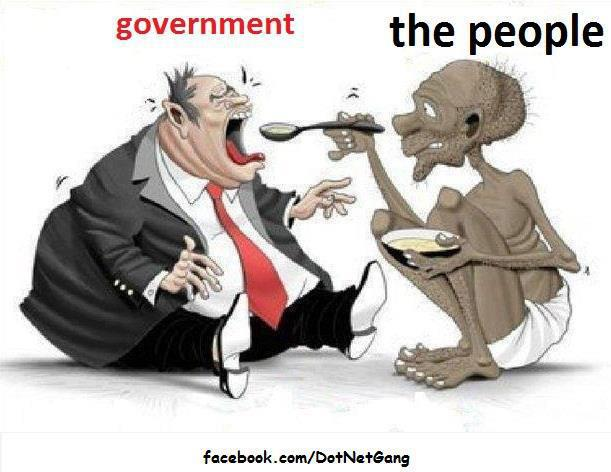 Cartoon showing how poor citizens of India are feeding Indian ...