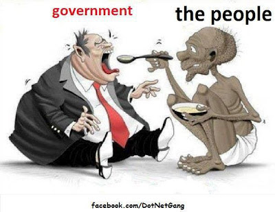 corrupted indian government cartoon