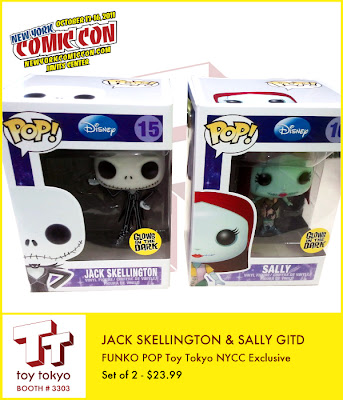 New York Comic-Con 2012 Exclusive Glow in the Dark Jack Skellington & Sally Pop! Disney Vinyl Figure by Funko