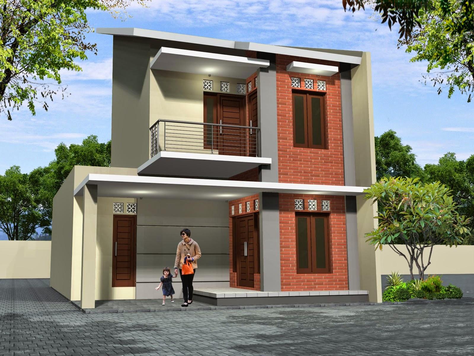 Desain Rumah Minimalis 2 Lantai Type 55 Foto Desain Rumah