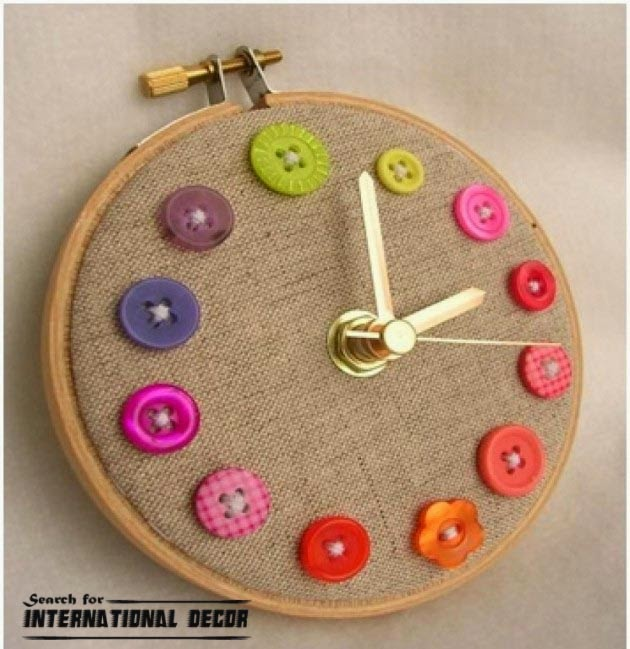 diy wall clock, cool wall clocks,creative wall clocks,cushion sewing clock
