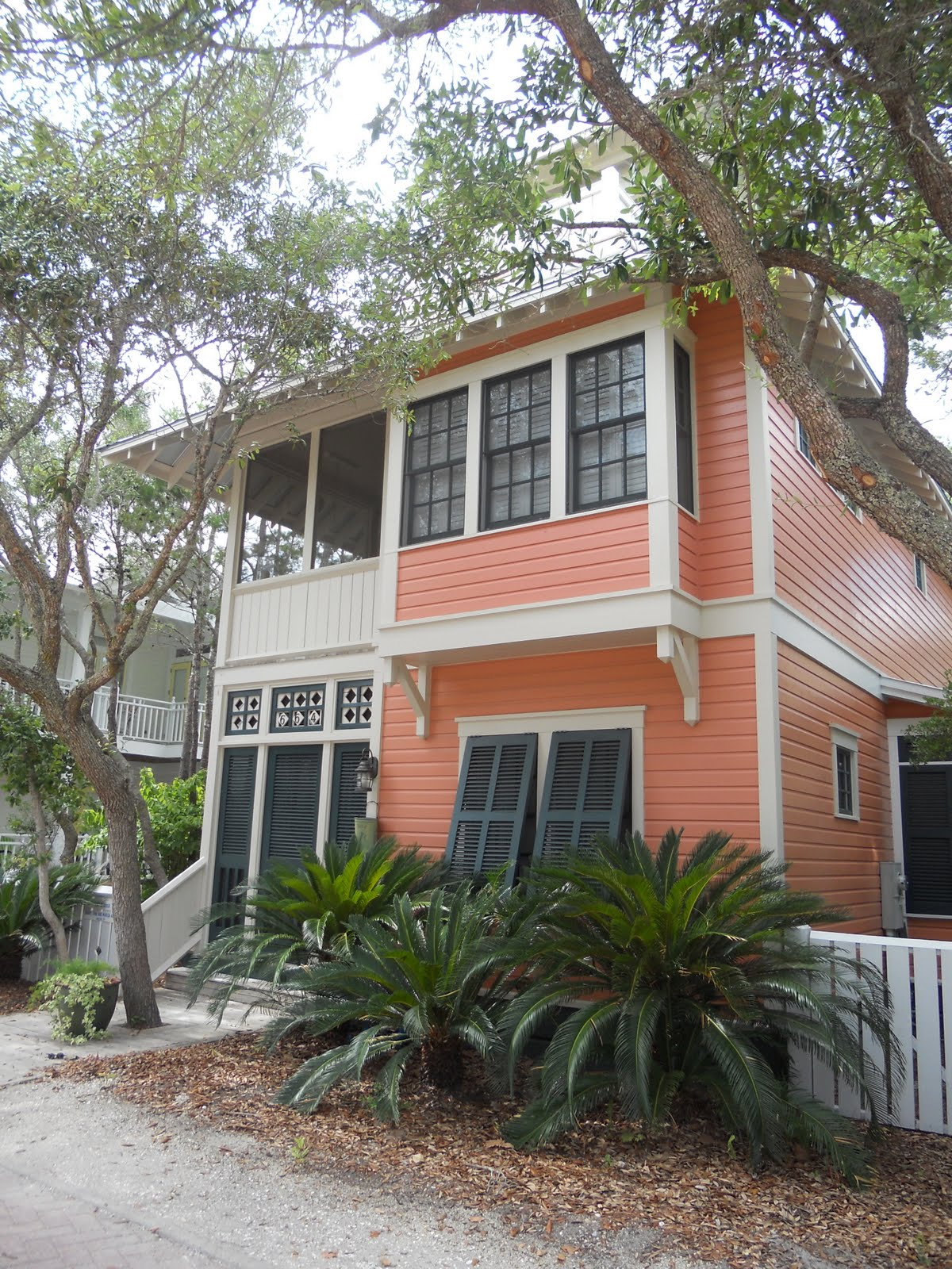 Design dump a stroll through seaside - Florida home exterior paint colors ...