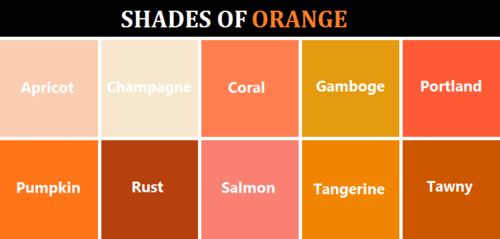Hues Names For Designers