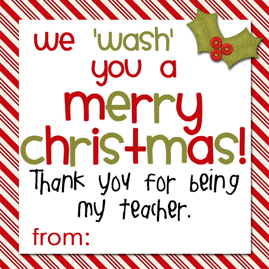 Camille's Corner: Soap Gift Tags for Teachers