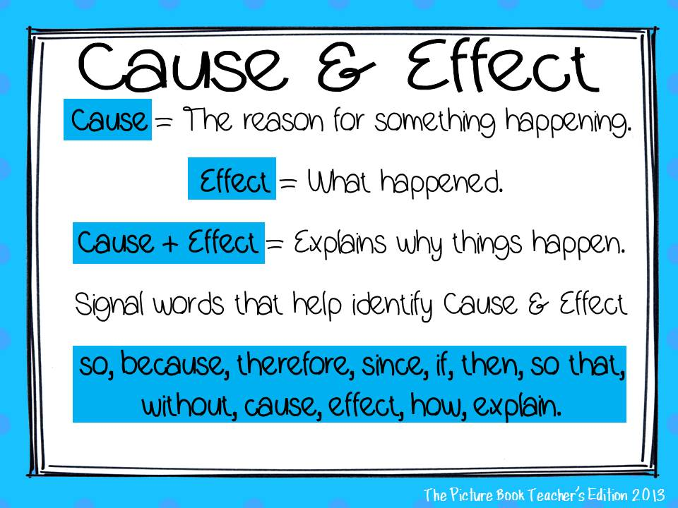 The Picture Book Teachers Edition The Importance of Cause and Effect – Cause and Effect Worksheets 2nd Grade