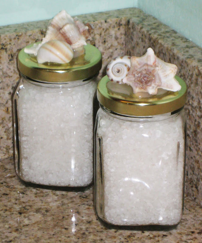 CRAFTS WITH ANASTASIA-- SHELL JARS AND BATH SALTS title=