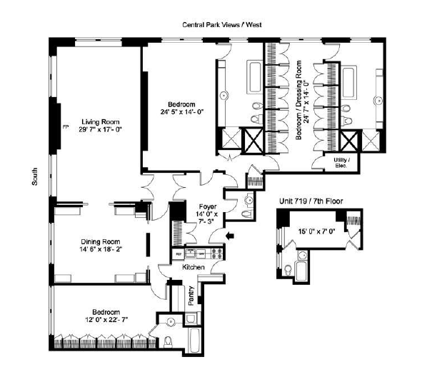 floor plan porn part 2 the sherry netherland home design dimensions. Black Bedroom Furniture Sets. Home Design Ideas