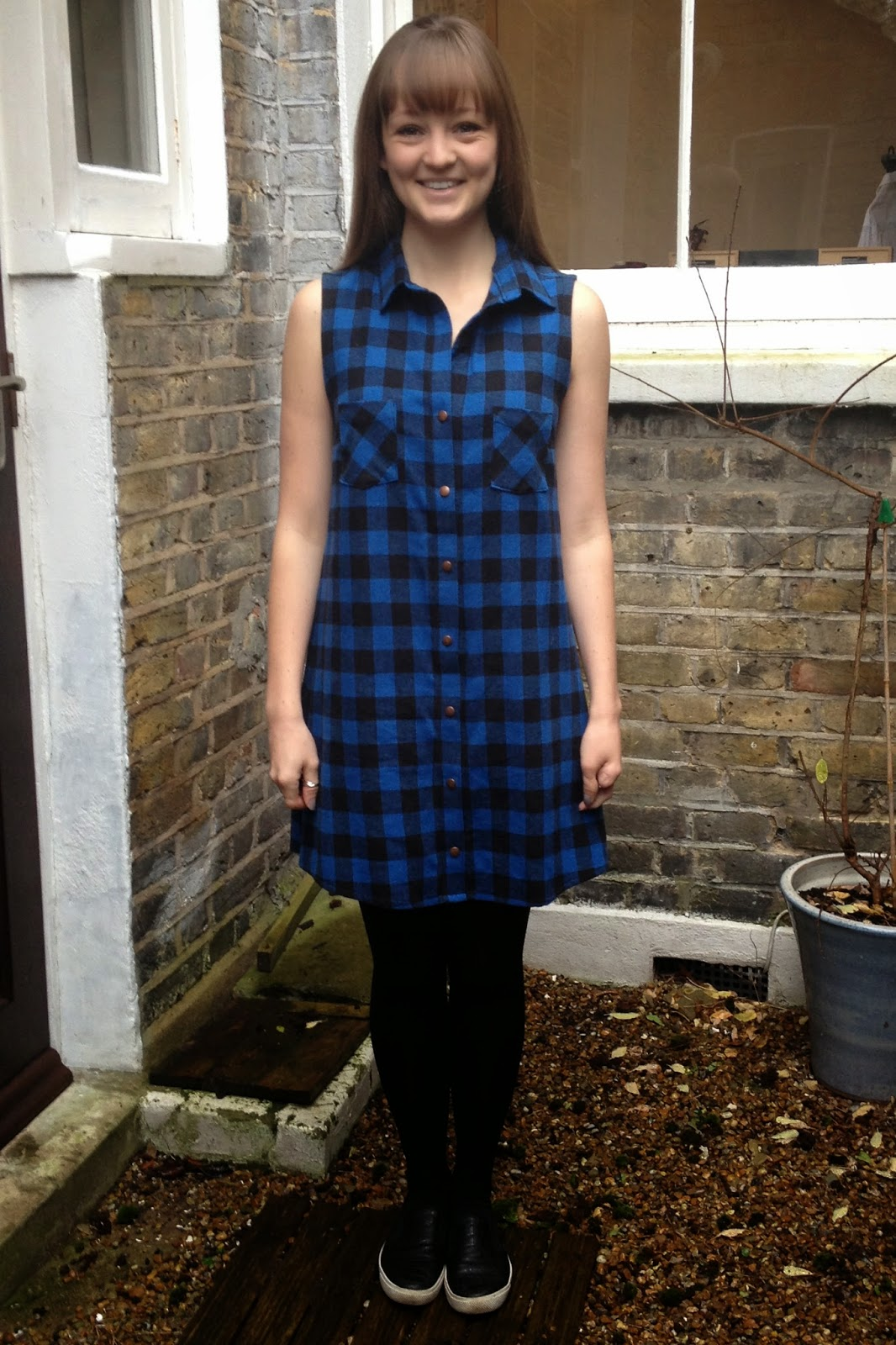 Diary of a Chain Stitcher: Grainline Alder Shirtdress in Mood Fabrics Plaid Flannel