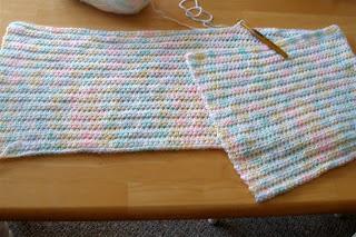 multicolor pastel baby blanket