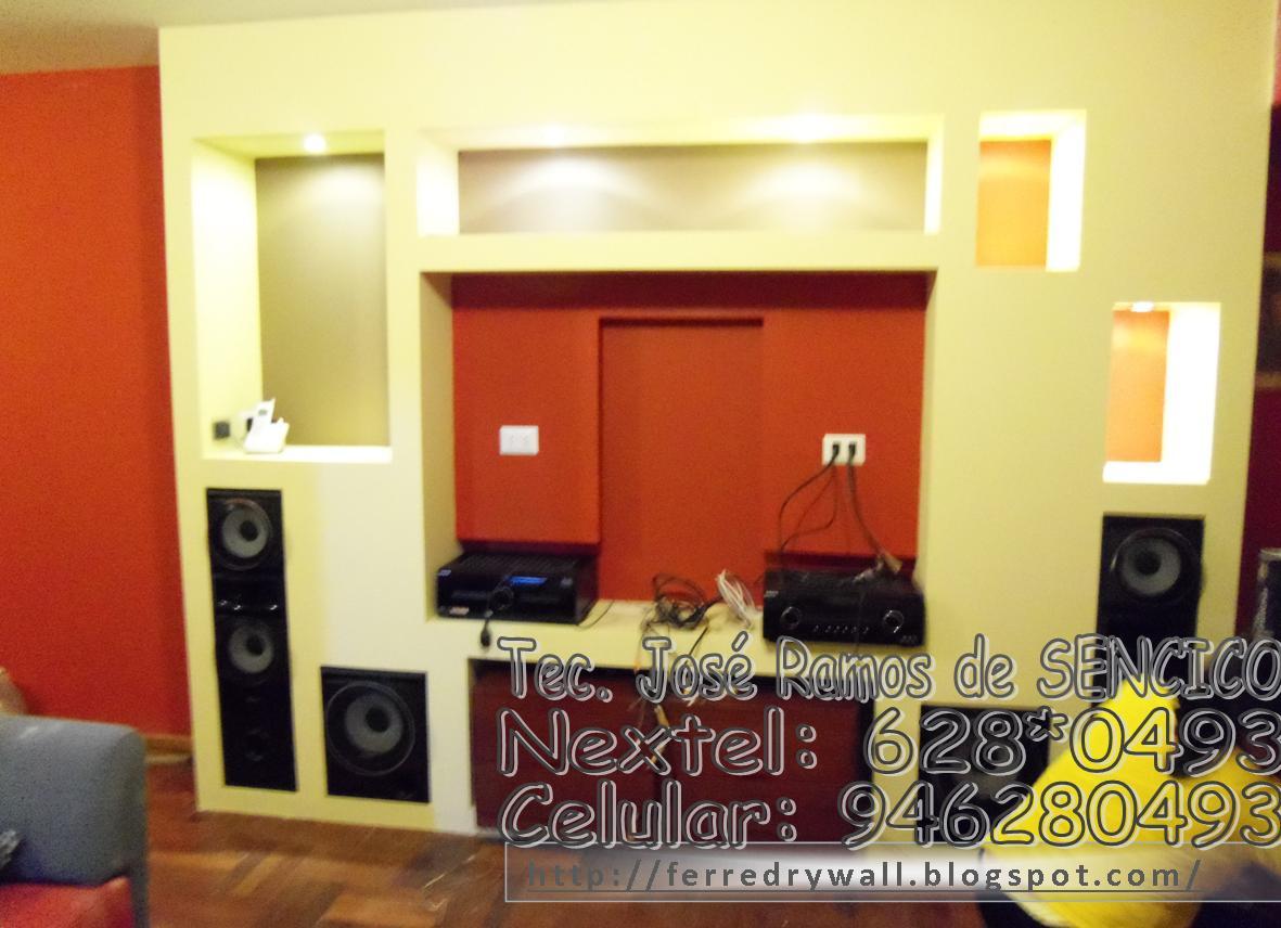Ferredrywall muebles de drywall - Muebles para equipo de sonido ...