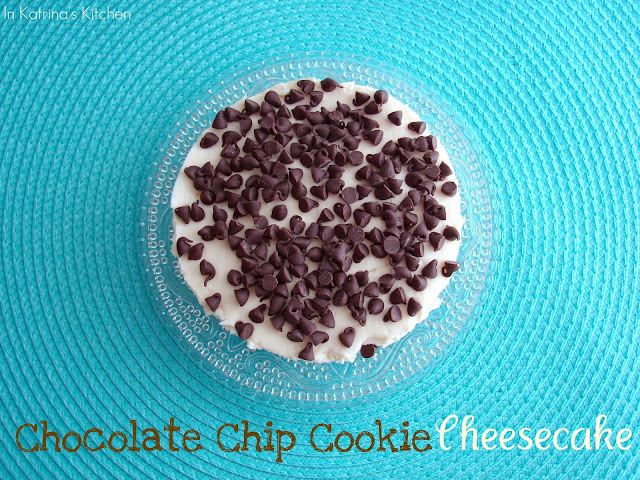 Chocolate Chip Cookie Dough Cheesecake #recipe from @katrinaskitchen
