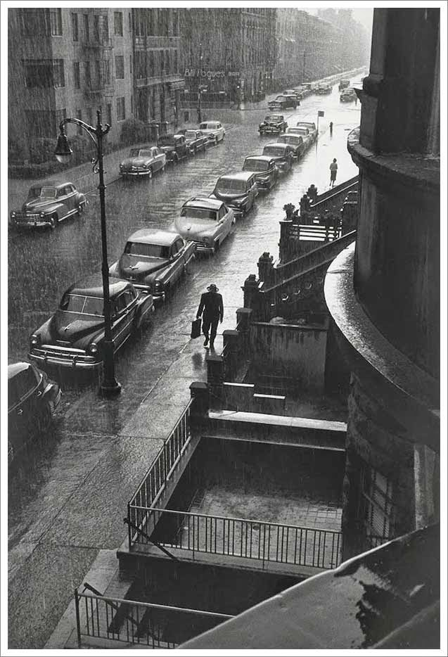 Man-in-the-Rain-New-York-City-1952-Photographer-Ruth-Orkin