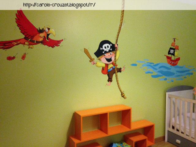 Carole crouzet dessinatrice d cors sur murs dans chambres d 39 enfants - Decoration chambre pirate ...