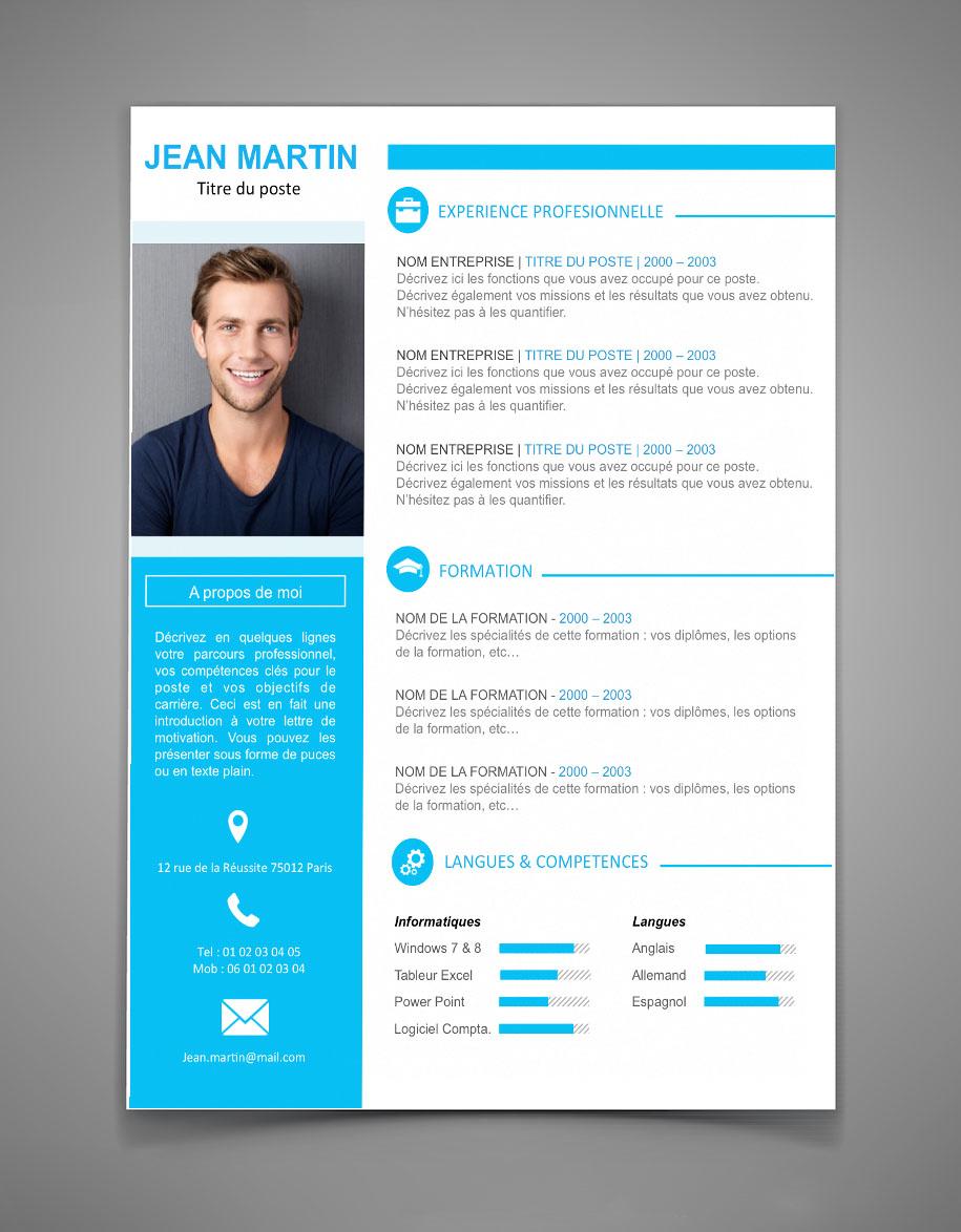 exemple de cv moderne gratuit cv moderne gratuit 2016   CV Anonyme exemple de cv moderne gratuit