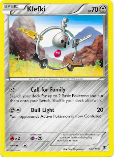 Klefki Phantom Forces Pokemon Card