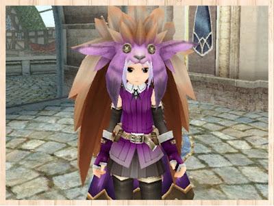モケロー帽子 紫1