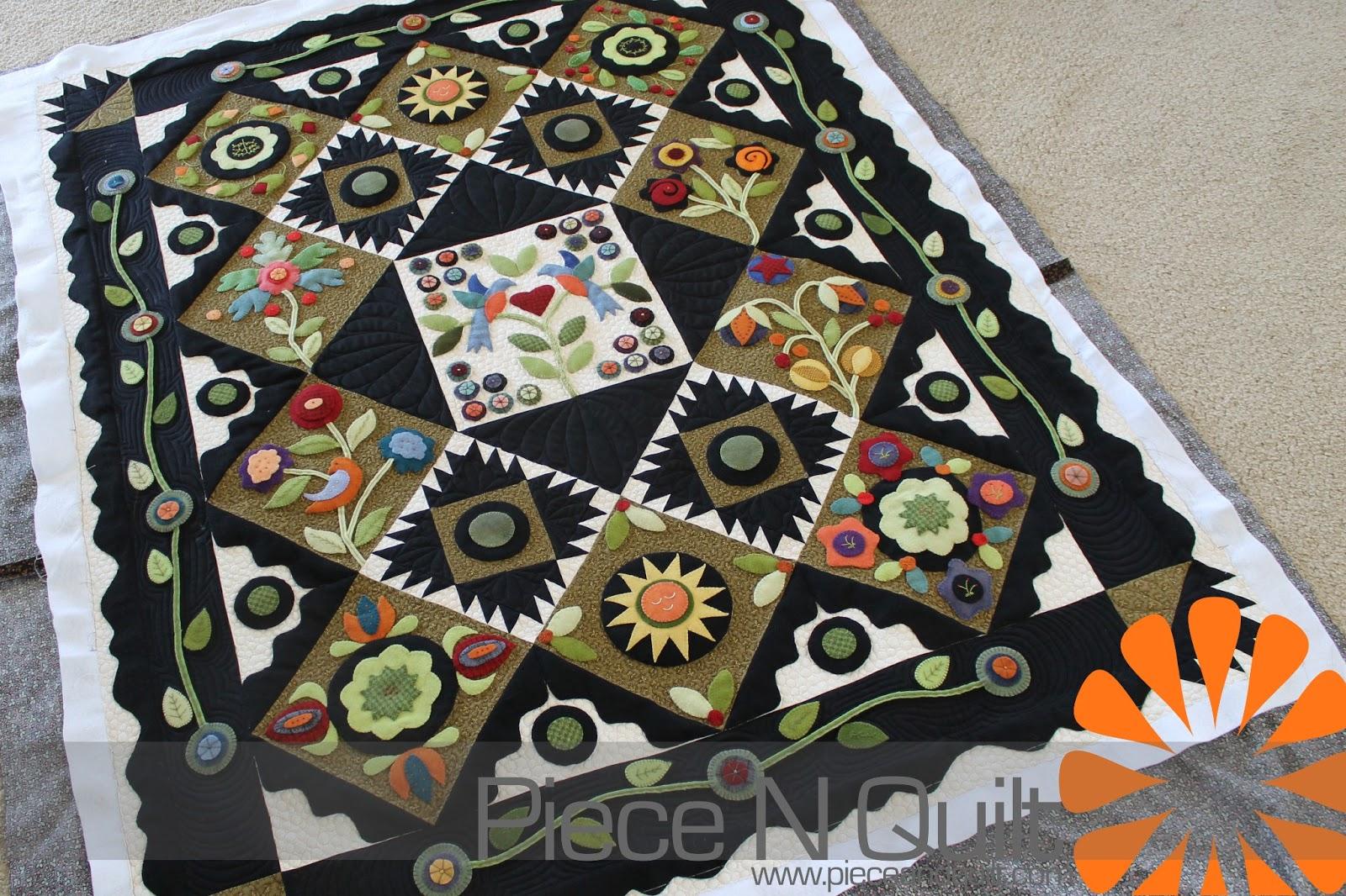 machine applique quilts