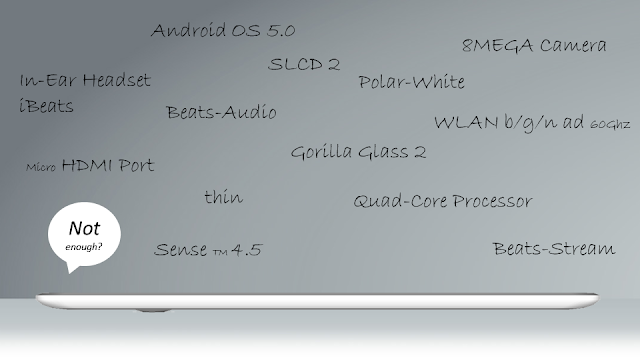 HTC One TE tablet specs