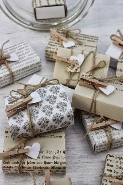 DIY paper gift wrapping