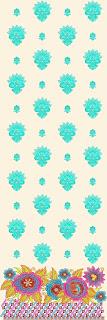 multi-gekleurde blomme borduurwerk Lawn pak