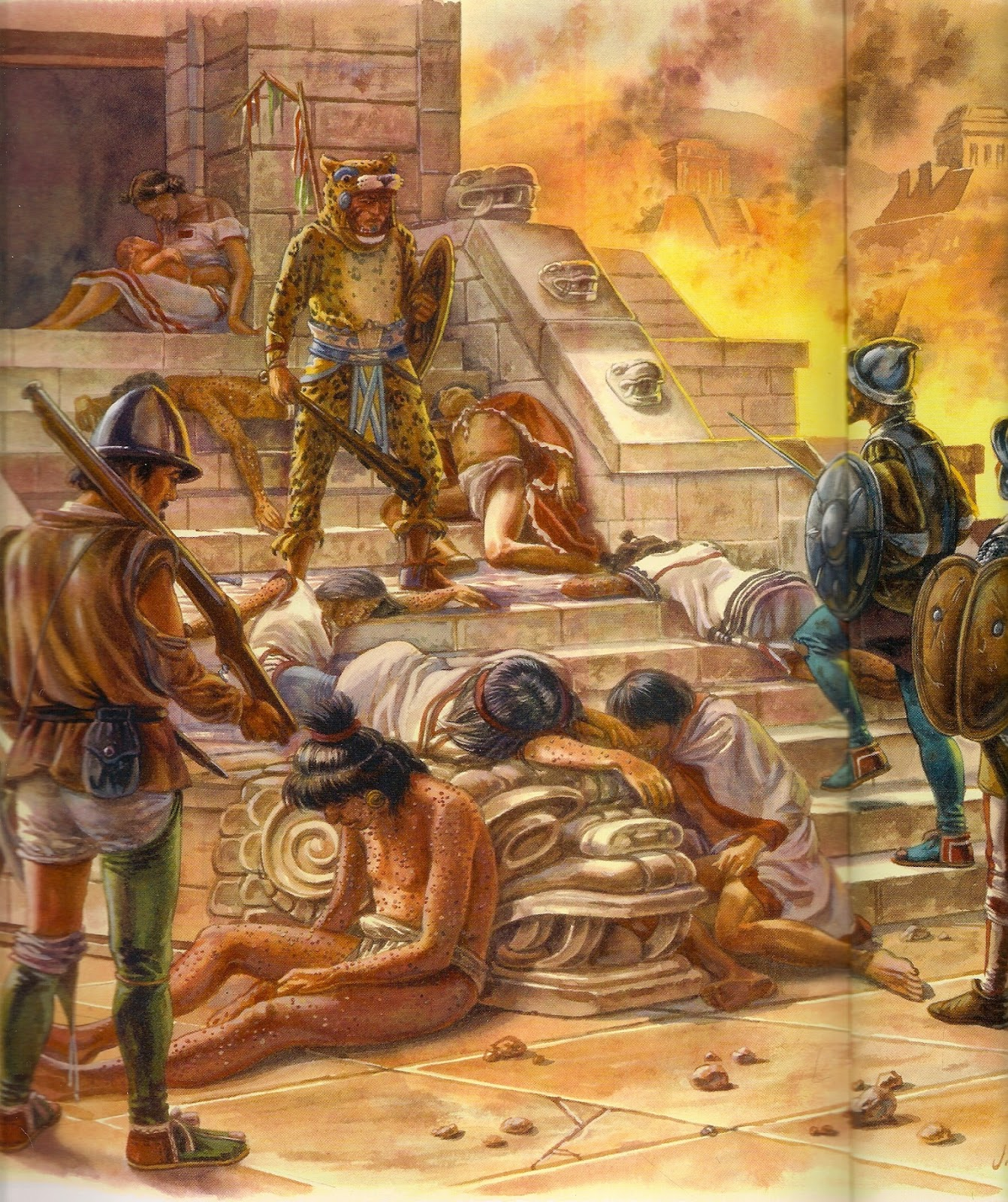 spanish conquest of the aztec empire The spanish conquest of the aztec empire, beginning in february 1519, was one of the most significant events in the spanish colonization of the americas.