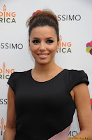 Eva Longoria celebrates the grand opening of the Tassimo Brewbot Cafe in New York City