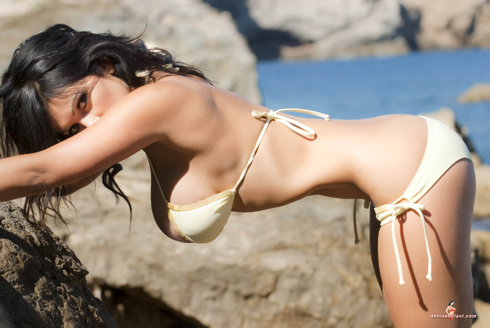 from Valentino denise milani at the beach nude