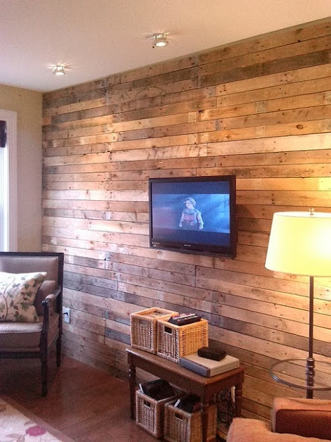 Home garden 60 id es pour recycler des palettes for Living room wall treatment ideas