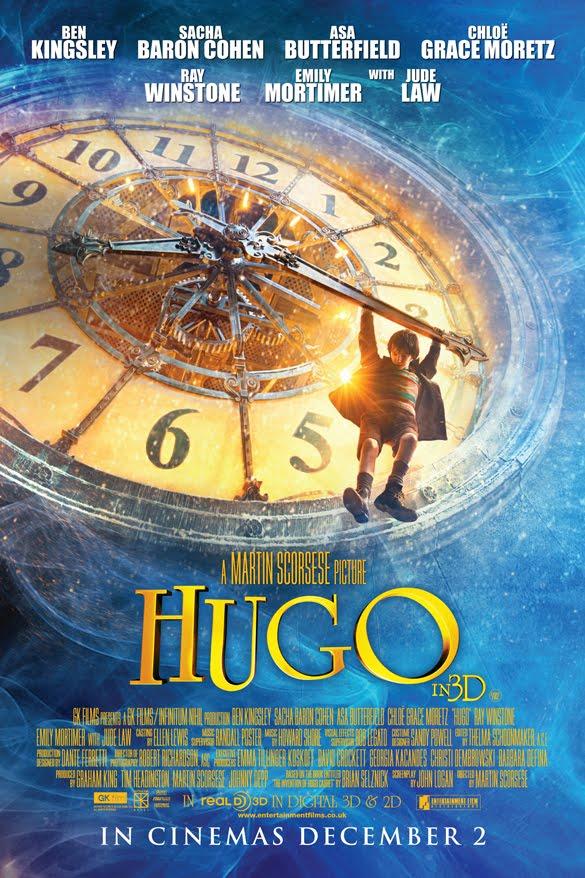 Hugo 3D Film Poster