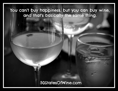You can't buy happiness, but you can buy wine
