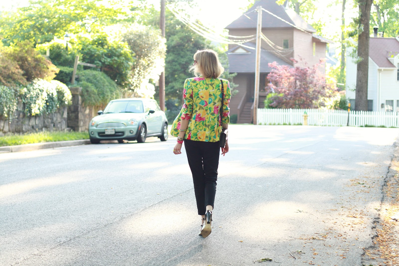 District of Chic floral blazer