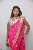 Actress Nisha Latest Photos in Pink saree-thumbnail-17
