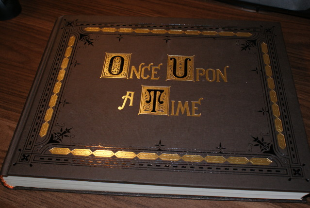 Book Cover Photography Prop ~ More tea mrs noodles once upon a time storybook birthday